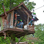 Scenic Canopy Zip Lines Tour at Foxfire Mountain in Sevierville TN