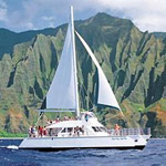 Kauai Sea Tours Na Pali Sightsee Sunset Dinner Cruise Aboard the Lucky Lady in Ele' ele, Kauai HI