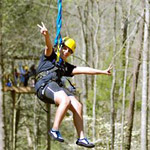 Zipping in the Smokies in Gatlinburg TN