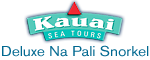 Kauai Sea Tours Deluxe Na Pali Snorkel Cruise Aboard the Lucky Lady Logo