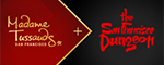 Madame Tussauds San Francisco + The San Francisco Dungeon Combo Logo