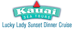 Kauai Sea Tours Na Pali Sightsee Sunset Dinner Cruise Aboard the Lucky Lady Logo