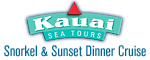 Kauai Sea Tours Na Pali Snorkel & Sunset Dinner Cruise Aboard the Lucky Lady Logo