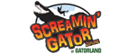 Gatorland's Screamin' Gator Zip line with Free Gatorland Park Admission Logo