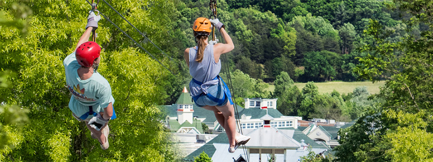 Adventure Park Ziplines in Sevierville, Tennessee