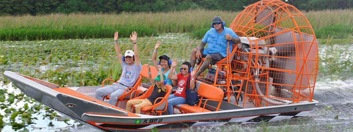 Boggy Creek Airboat Rides in Kissimmee, Florida