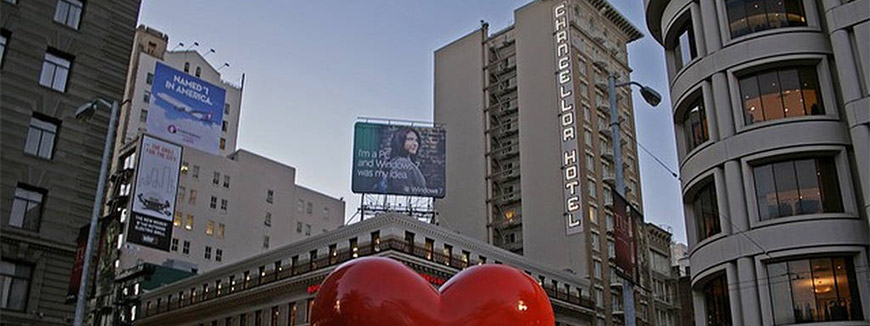 Chancellor Hotel on Union Square in San Francisco, California