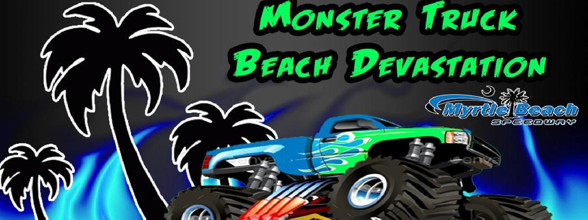 Monster Trucks Beach Devastation