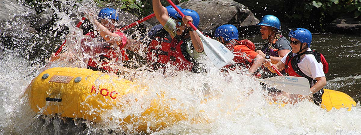 Pigeon River Rafting with NOC in Hartford, Tennessee