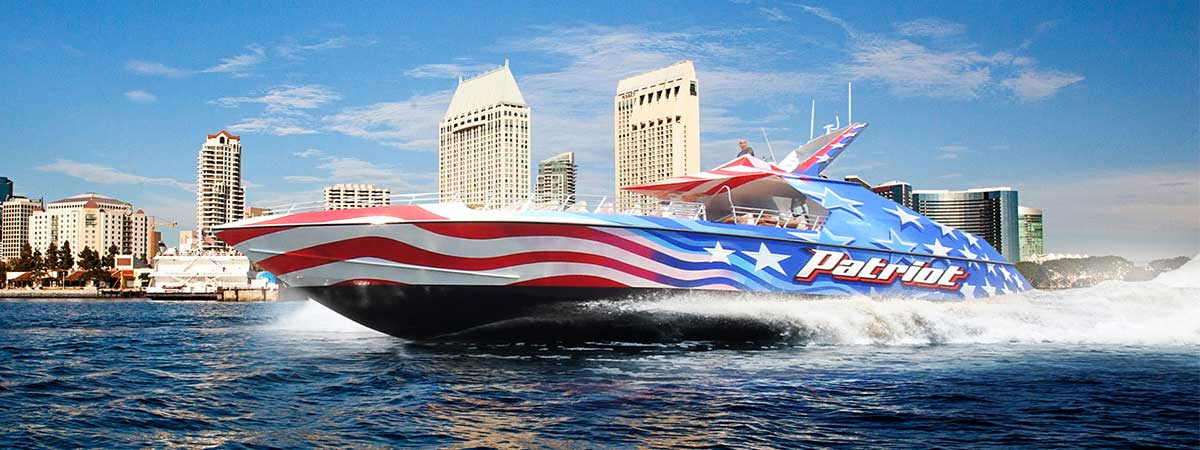 Patriot Jet Boat Ride by Flagship in San Diego, California