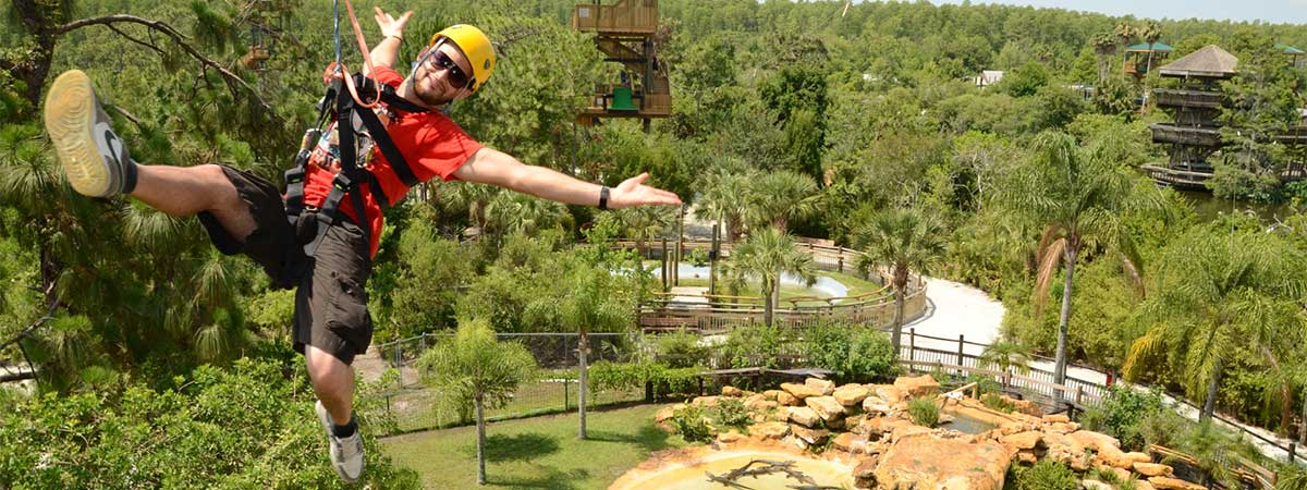 Gatorland's Screamin' Gator Zip line with Free Gatorland Park Admission