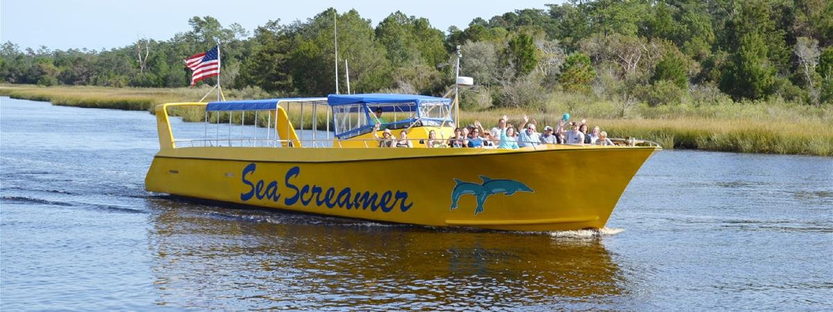 Sea Screamer- Myrtle Beach Dolphin Cruises in Little River, South Carolina