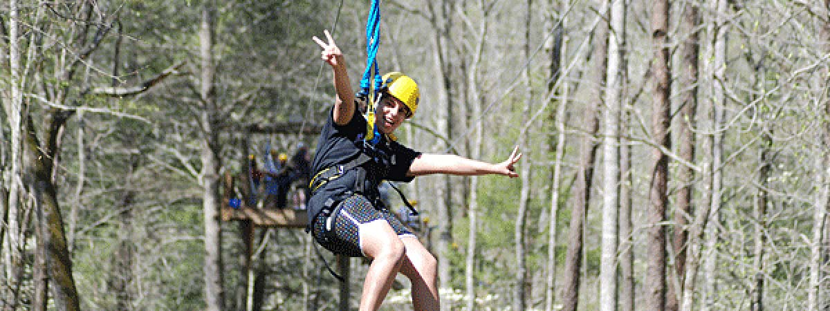 Zipping in the Smokies in Hartford, Tennessee