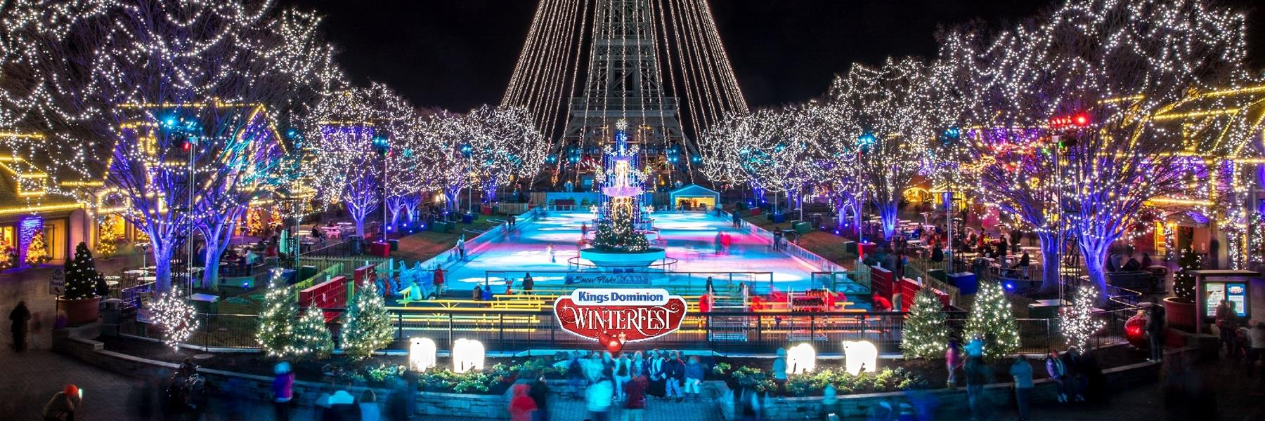 Winterfest at Kings Dominion in Doswell, Virginia