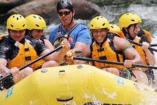 Rafting in the Smokies in Hartford, Tennessee