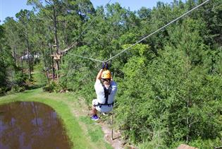ZIPStream's Castaway Canopy Zipline Adventure in St. Augustine FL