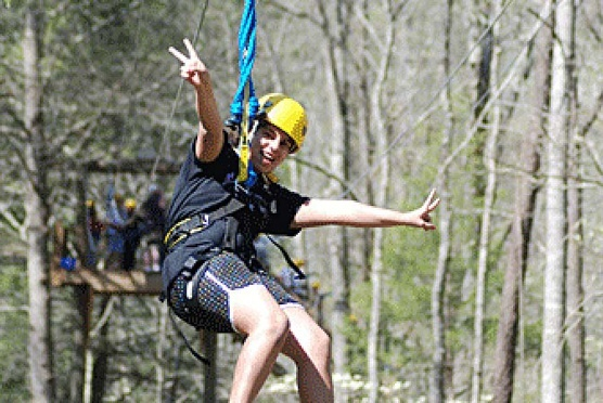 Zipping in the Smokies in Hartford TN