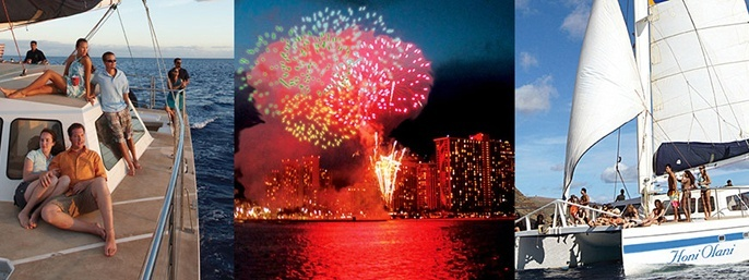 Kewalo Fireworks Dinner Sail in Honolulu HI