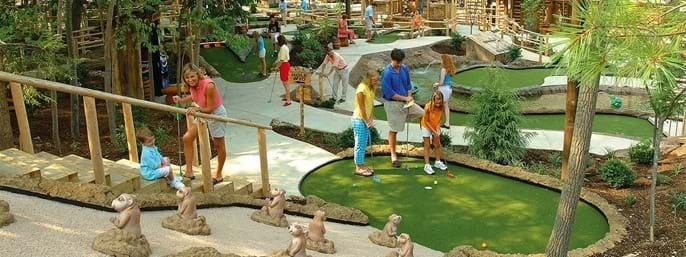 Ripley's Davy Crockett Mini-Golf in Gatlinburg TN