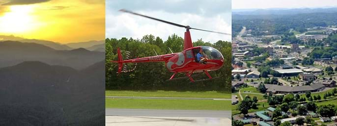 Sevier County Helicopter Rides in Sevierville TN