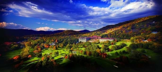 The Omni Grove Park Inn in Asheville NC