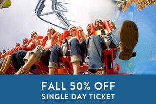 Busch Gardens Williamsburg U201cFall 50% Offu201d Single Day Ticket