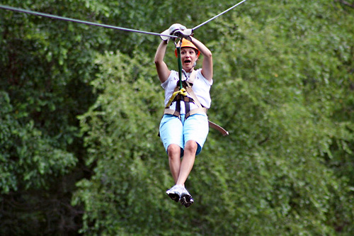 Adventure America Zipline Canopy Tours - Waterfall in Hartford, Tennessee
