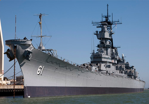 Battleship Iowa Museum in San Pedro, California