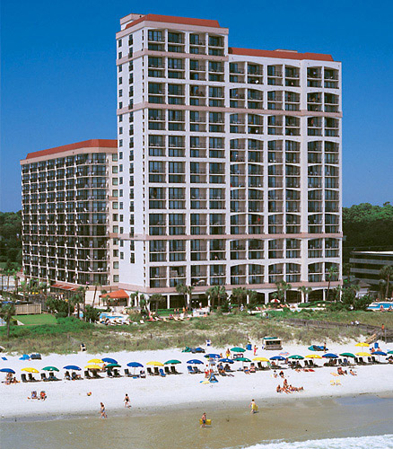 The oceanfront Beach Colony Resort in Myrtle Beach, South Carolina