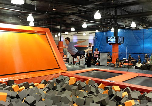 Flip and fly into the foam pit. - Big Air Buena Park in Buena Park, California