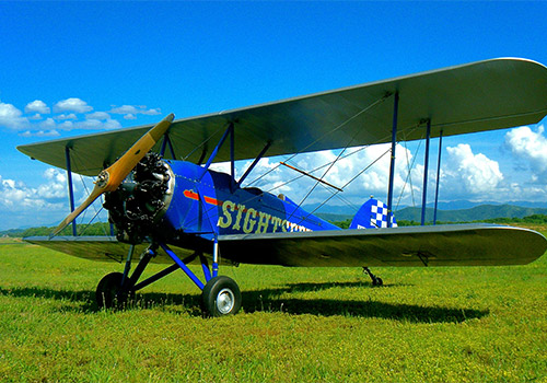 Sky High Air Tours Biplane Rides, located at the Gatlinburg Pigeon Forge Airport in Sevierville, Tennessee