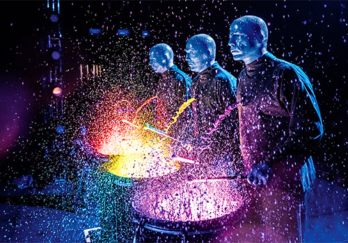 Paint drumming - Blue Man Group in Chicago, Illinois