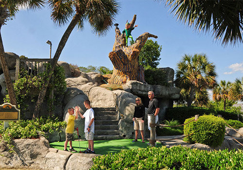 Play all day at Captain Hook's Adventure Golf in Myrtle Beach, South Carolina