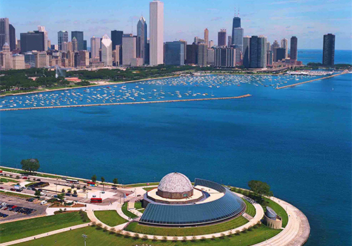 Adler Planetarium with Skyline - Chicago CityPASS in Chicago , Illinois