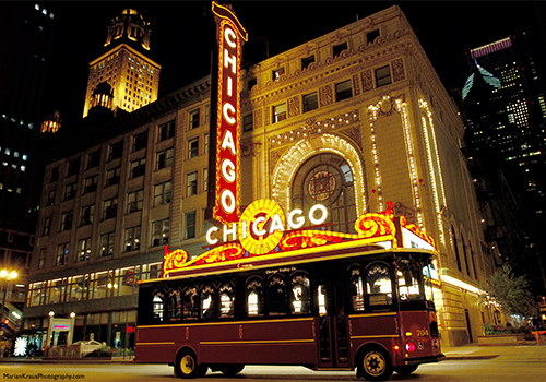 Chicago Theatre - Chicago Trolley & Double Decker Tours in Chicago, Illinois