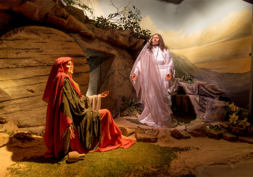 YOU ARE THERE as Mary Magdalene comes to the tomb only to discover her Lord is RISEN!