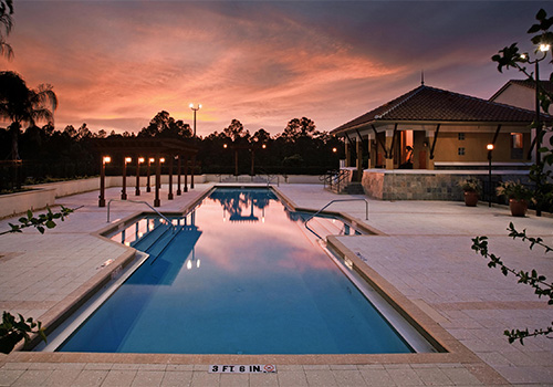 Pool Area with Fitness Center - Damai Resort Orlando in Orlando , Florida