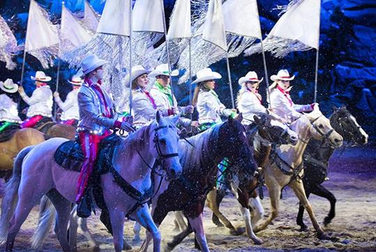 Christmas at Dolly Parton's Stampede Dinner & Show in Pigeon Forge, Tennessee