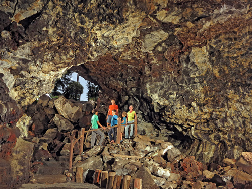 Private cave and lava tube tour