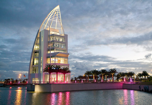 The New Exploration Tower at Port Canaveral officially opened November 4, 2013, as  part of the Canaveral Port Authority's celebration of their 60th anniversary.