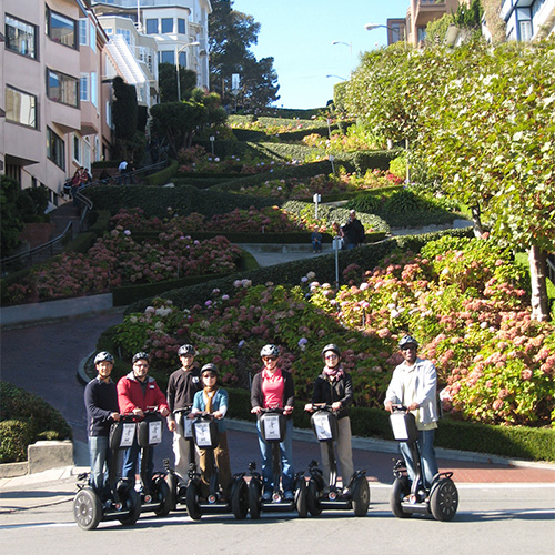 Advanced Route Segway tour at the bottom of the World's most Crooked Street - Lombard Street. Fisherman's Wharf & Hills of San Francisco - Advanced Tour in San Francisco, California