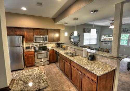 Kitchen 1 BR unit  - Greensview Branson in Branson, Missouri