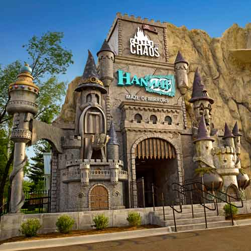 Shared entrance for Hannah's Maze of Mirrors and Castle of Chaos