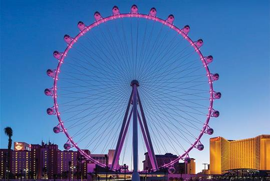 High Roller Wheel at the Linq in Las Vegas, NV