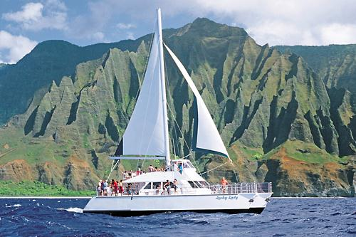 Kauai Sea Tours Lucky Lady NaPali Sightsee Sunset Dinner Cruise #4 in Ele' ele, Hawaii