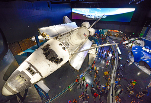 Space Shuttle Atlantis exhibit at the Kennedy Space Center