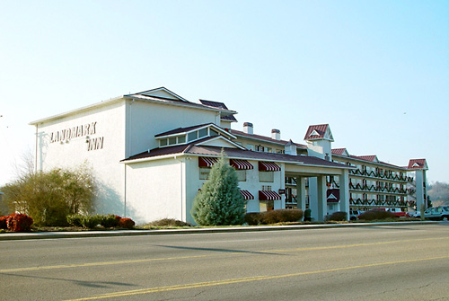 Landmark Inn - building with name on the side