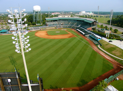 Myrtle Beach Pelicans Baseball In South Carolina Stadium
