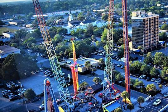 Free Fall Thrill Park 3 Ride Combo
