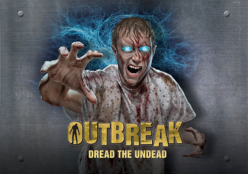 Outbreak - Dread the Undead is a year-round haunted zombie attraction.